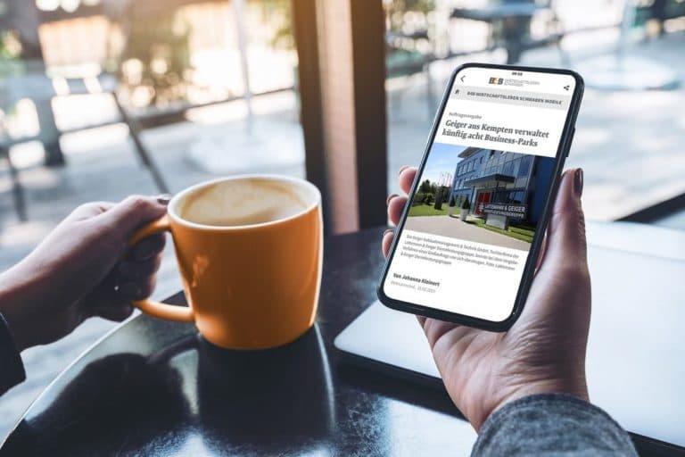 B4BSCHWABEN.de: optimaler Zugriff mit der Progressive-Web-App
