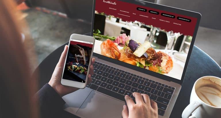 Webseite auf Sterne-Niveau für die Lustküche